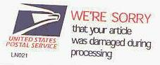 USPS damage apology