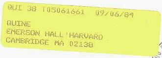 CFS yellow forwarding label