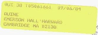 CFS yellow forwarding label