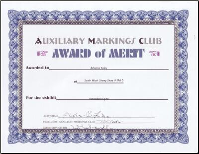 Auxiliary Markings Club Award of Merit